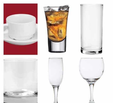 Профессиональная посуда, столовые приборы для кафе
