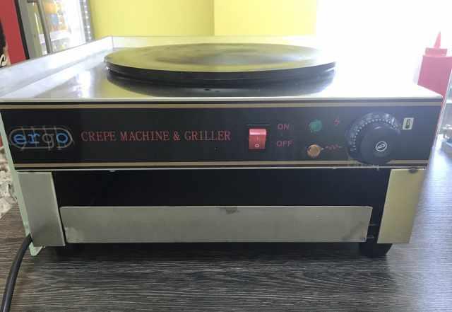 Блинница профессиональная ergo crepe machine grill