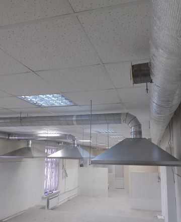 Вытяжные зонты для пищевой промышленности