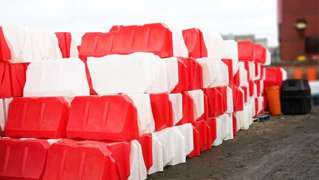Дорожные Пластиковые Ограждения Водоналивной(блок)