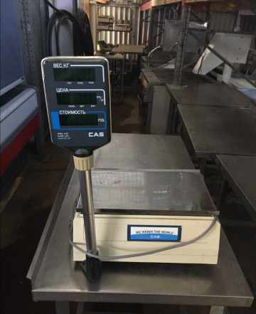 Весы электронные торговые CAS LP-15