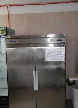 Холодильник 2-х камерный Polair нерж б/у