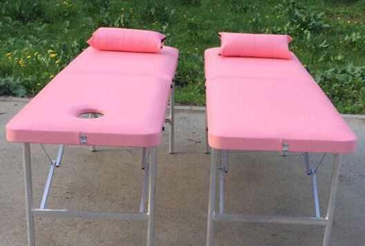 Массажный стол Элит розовый