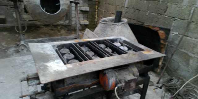 Вибрастанок керамзитобетоных блоков пластины 5мм