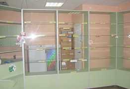 Витрины и шкафы для аптечного пункта (магазина)