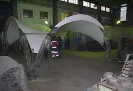 уличный арочный шатер
