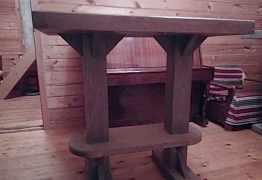 Стол 120 на 70, массив дерева, 7 штук