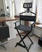 Алюминиевый стул визажиста с подголовником
