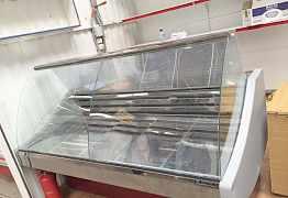 Витрина холодильная и полки витринные