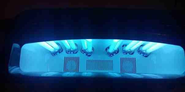 Уф лампа irisk 54 w на две руки, с вентилятором