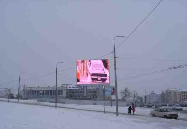 Уличный рекламный экран LED 12м/кв 300 тыс