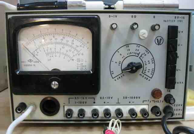 Вольтметр универсальный ву-15 1981г