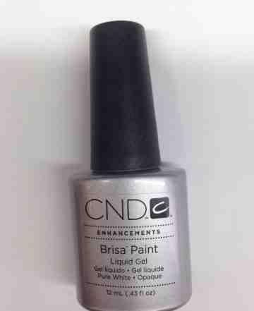 Белая гелевая краска с кисточкой CND Brisa Paint P