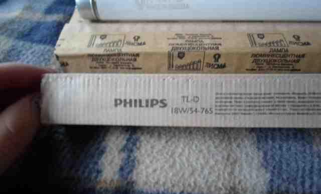 Лампа люминесцентная philips TL-D 18W/54-765 3F