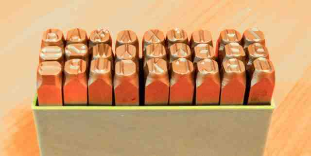 "Шрифт металлический letter punch 12.5mm, 1/2"""