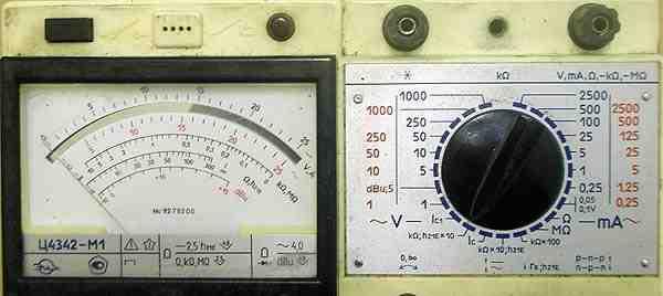 Мультиметр (тестер) Ц4342-М1, аналоговый