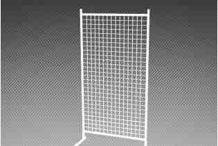 С4.1 Стойка с сеткой усиленная 1800х400х300/ хром
