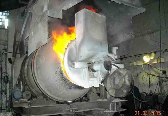 Печь роторная наклонная