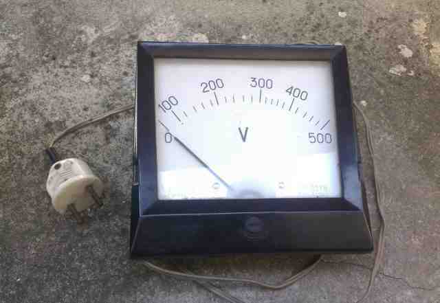 Вольтметр переменного тока 0-500в