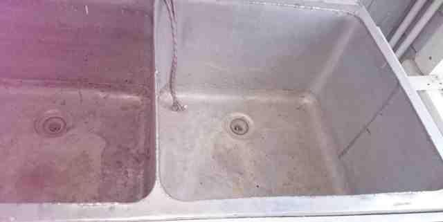 Мойка кухонная производственная, из алюминия б/у
