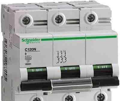 Schnider electric 80А 100A 125A С С120N 10кА