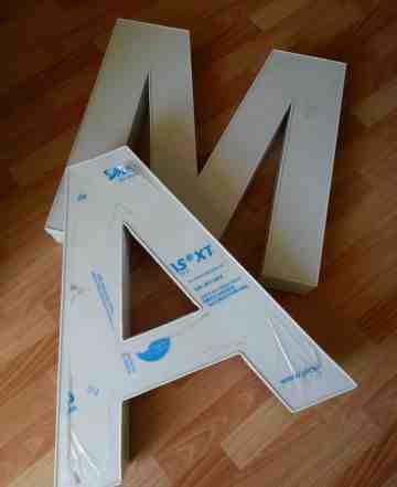 Световые буквы мойка