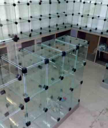 Витрины кубики (стекло зеркало)