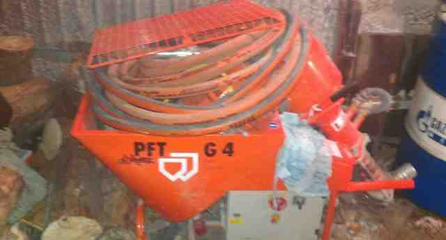 Штукатурная машина PFT G4 с подкачивающим насосом