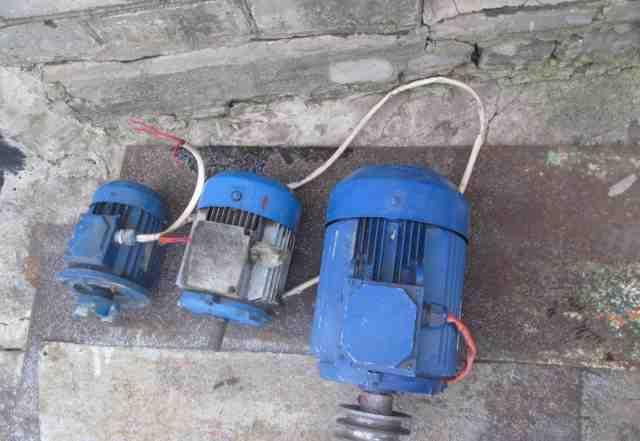 Электромоторы 3 шт
