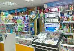 Стеллажи, прилавки для магазина бытовой химии