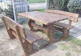 Стол и лавки для сауны, баров