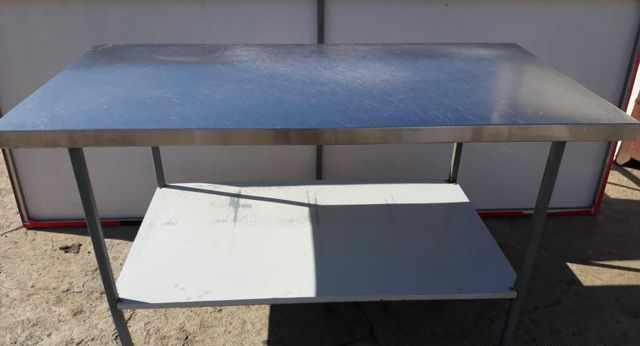 Стол и стеллаж из нержавеющей стали и т. д