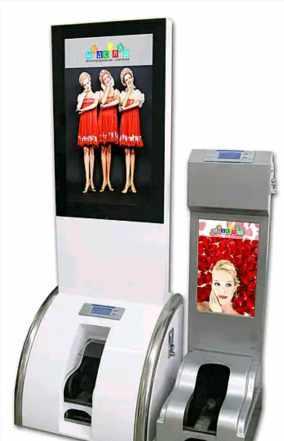 Вендинговый автомат чистки обуви с монетоприёмнико