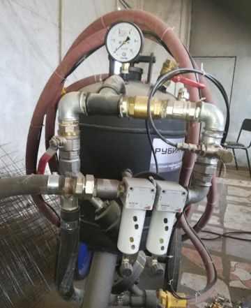 Пескоструйный аппарат с компрессором