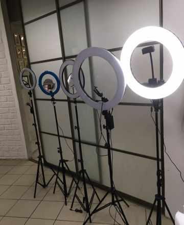 Свет для съемки лампы кольцевые