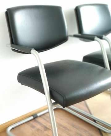 Кресло для посетителей кожа (Италия) 6 шт
