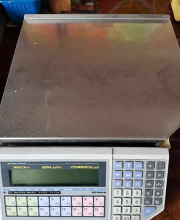 Весы штрих принтер