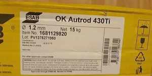 Сварочная проволока esab OK Autrod 430Ti 1.2 mm