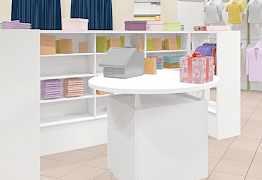 Торговое оборудование (стол, стеллажи, кронштейны