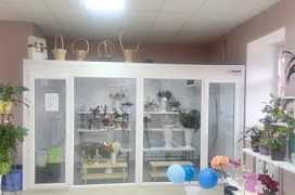 холодильную витрину для цветов
