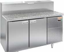 Холодильный стол для пиццы hicold pz2-11/gn камень