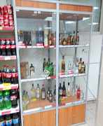 Алкогольная витрина-шкаф