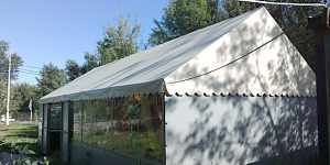 каркасный шатер-павильон 50м2
