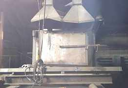 печь для плавки аллюминия с изложницами