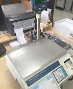 Весы с принтером б/у