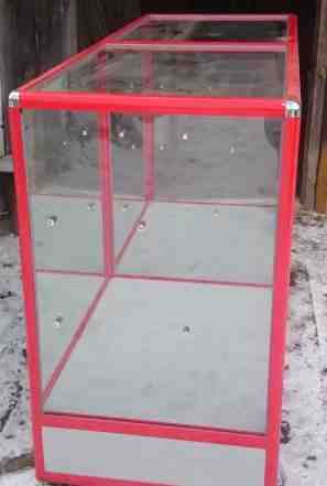 витрину стеклянную, б/у