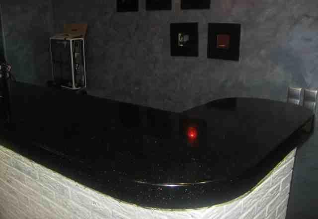 Столешница из искусств. камня черная
