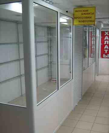 Торговый павильон из профиля и стекла