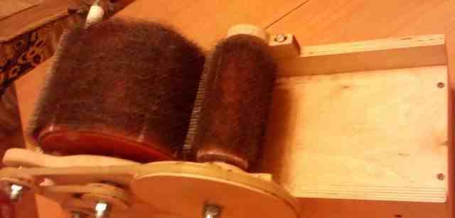кардер барабанный для расчесывания шерсти