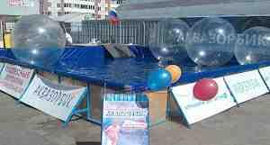 Каркасный бассейн 8х8 для зорбов